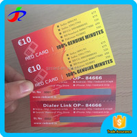 Made in China Full color offset printing 2 pin 1 prepaid scratch card for mobile phones / phone card