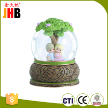 Valentine's Day Gifts Couple Under Tree Resin Glass Snow Globe