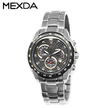 Custom own logo top quality 5 atm water resistant 316l stainless steel watch man