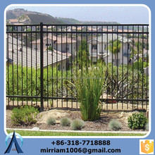China brand low price tubular steel ornamental garden fence