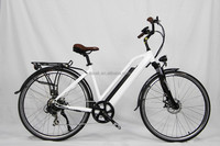 Pedal assist hidden bottle battery electric city bicycle with rear motor for girls