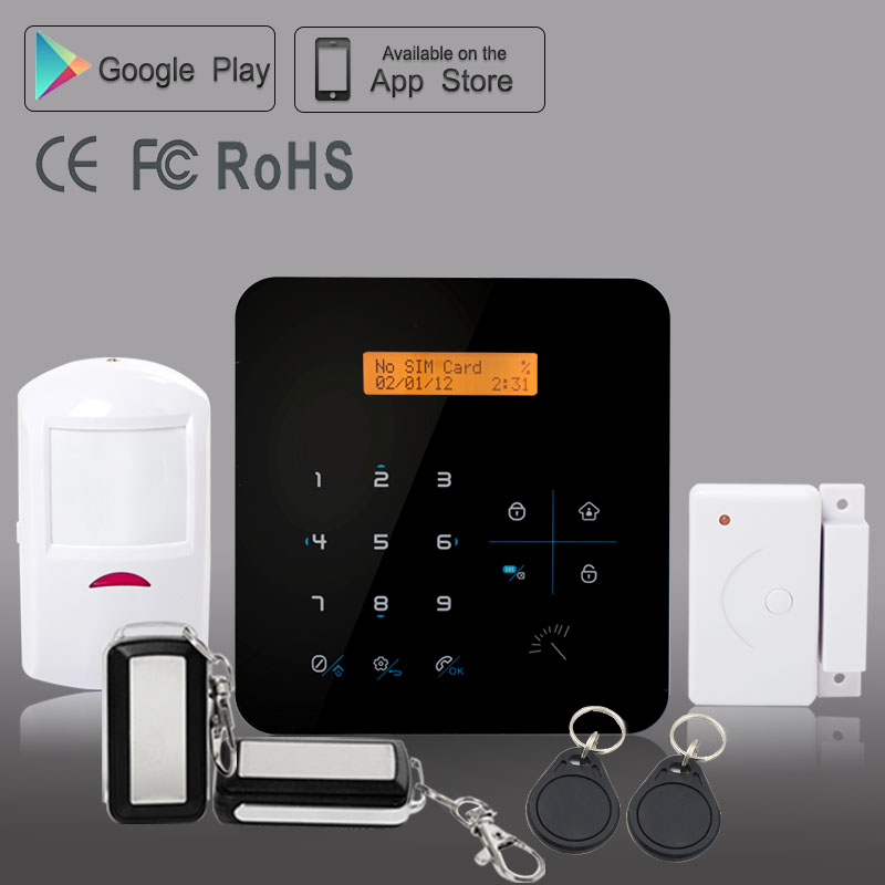 Rfid App Control quad band tamper device octopus bluguard auto recognition alarm security system