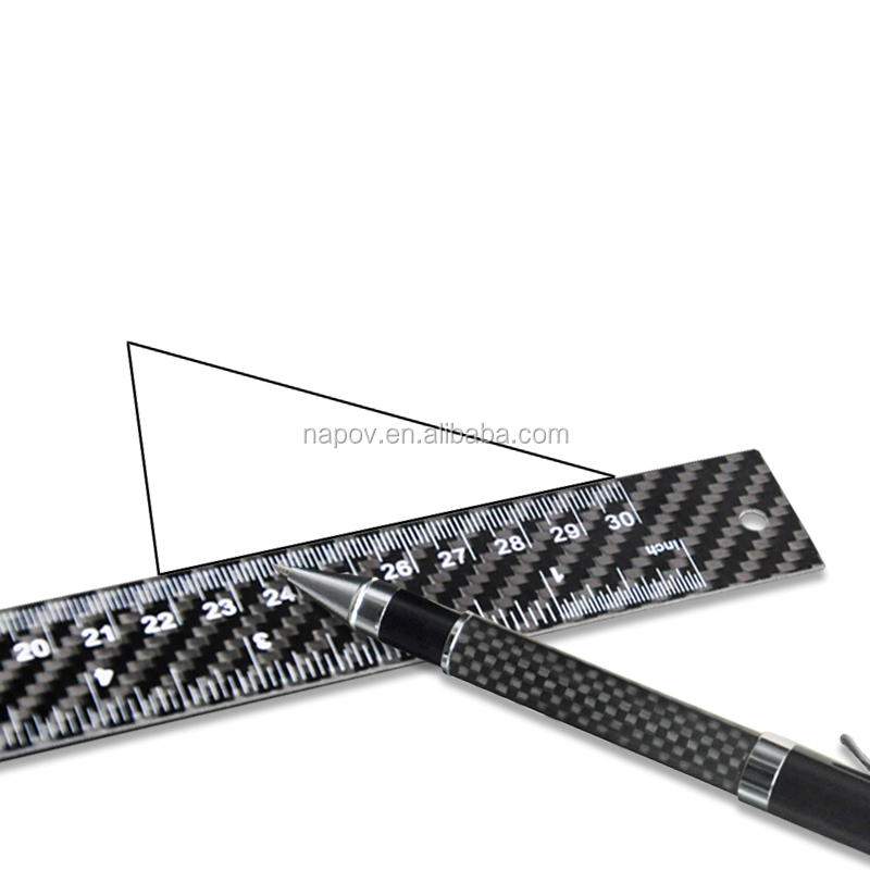 Professional Manufactory Carbon Fiber Scale Ruler Architect Measuring Tool