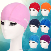 Custom high quality adult children polyamide spandex lycra swimming cap