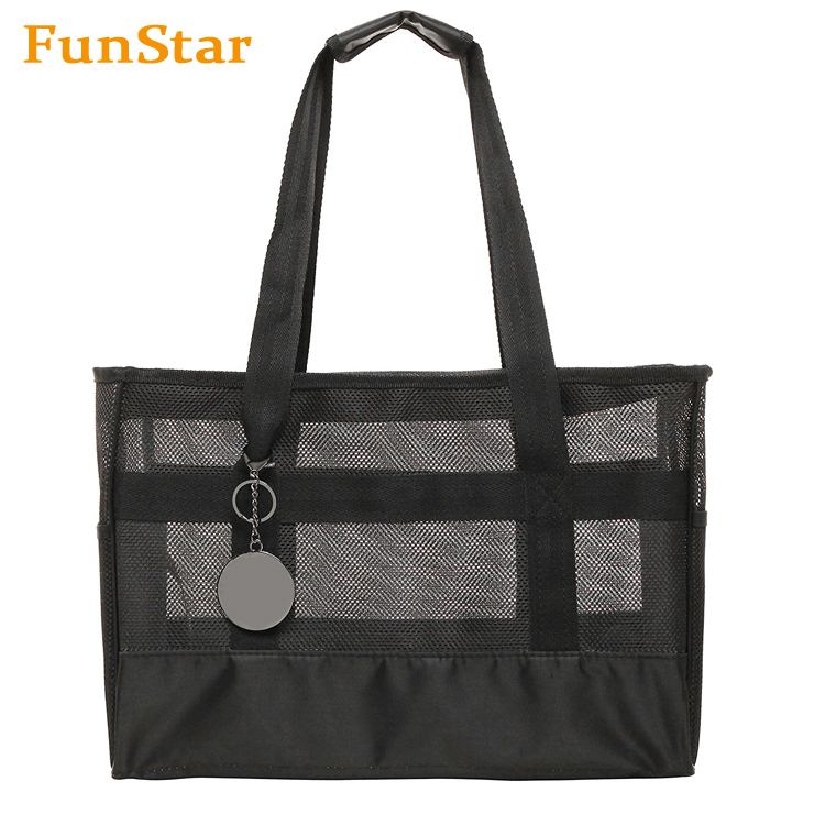 Black Soft-Sided Pet Carrier Reversible Outdoor Cat Carry Bag Travel Bag Dog House