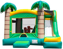 Hot sale air balloon inflatable bouncy castle for kids