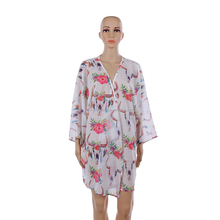 Wholesale Casual 3/4 Sleeve Floral Cow Skull Kimono