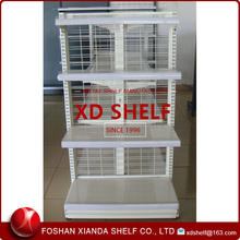 Grid Mesh Back Food Shelving /Floor shelving beverage wire shelving display