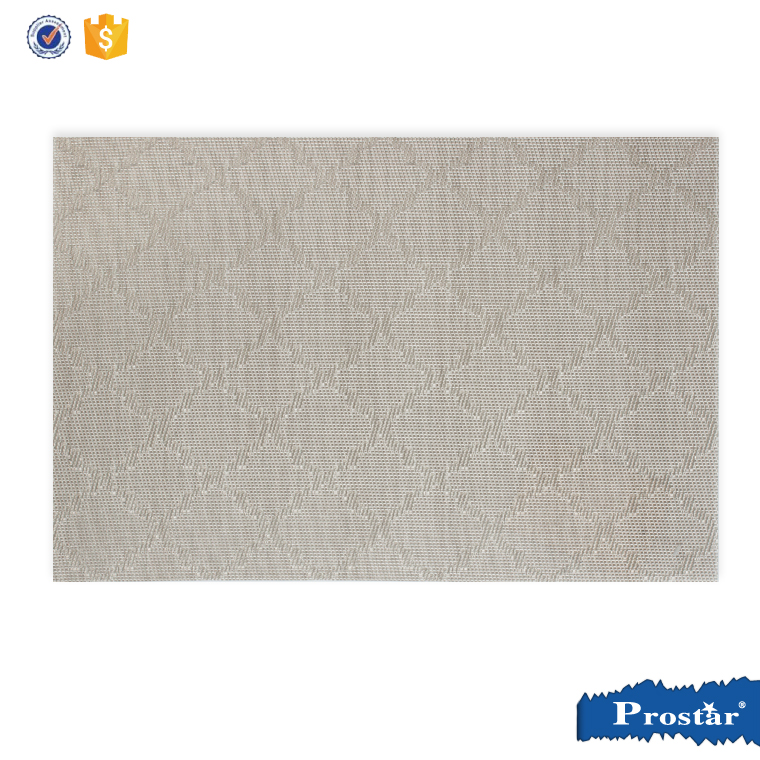 Diamond jacquard pvc woven Table Placemat