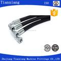 Factory SAE Wire braided hydraulic hose high pressure rubber hydraulic hose