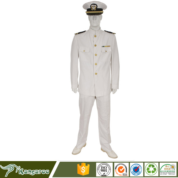 Merchant Scottish New Navy Officer Dress White Army Uniform Pattern