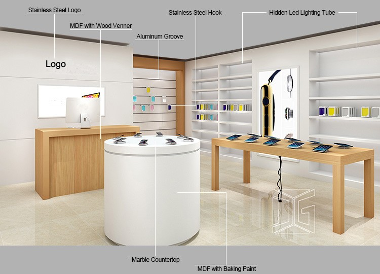 Free Design Electronic Shop Decoration For Retailers