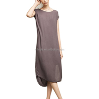 Pullover Style Women Shirt Dress New Arrival Fashion Rayon Loose Fit Summer Cool T-Shirt Long Tunic Dress For Custom
