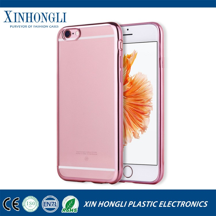 Newest Electro Plating Phone Case Super Soft TPU Case for Iphone 7