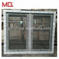 Cheap pvc casement window with mosquito net window grill design