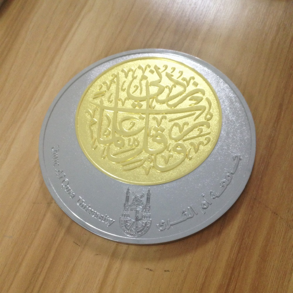 40mm size two tone plating souvenir coins with wholesale price