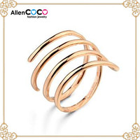 Fashion wedding rings of men's ring of interlocking wedding rings with glaze spiral on ebay china website