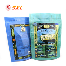 Accept Customized Color Zipper Bag Plastic Pet Food Packaging for Animal Feed