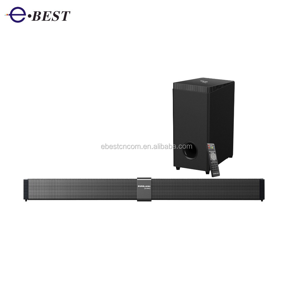 Soundbar Speaker for Home Theater TV Speaker/ AUX in/ USB/ Optical/ Coaxial