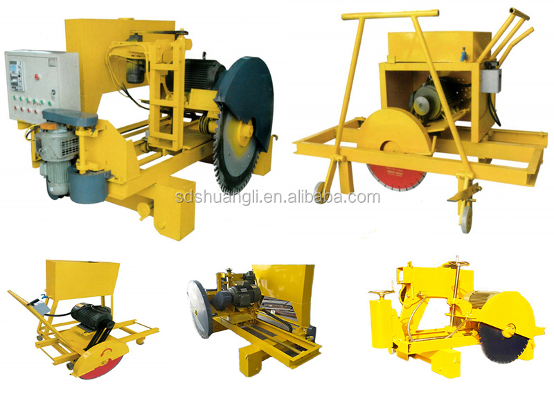 Ling-Feng 500 Model concrete cutting machine with automatic diamond saw blade