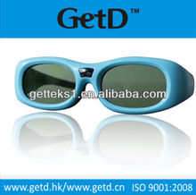 bright color kids CINEMA Battery 3D Active Shutter Glasses ---GT610-C