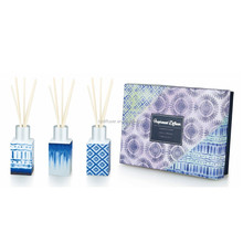 Reed Diffusers Set with Home Fragrace in Glass Bottle