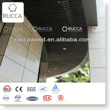 Rucca WPC compound outdoor suspended ceiling, pvc architeture ceiling design 50*90mm China Suppliers