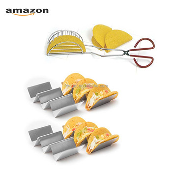 Amazon Stainless Steel Taco Holder Rack Bundled With Taco Shell Press Maker As Package Set Ideal For DIY Taco Homemade