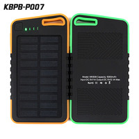5000mah Solar Power Bank Waterproof/Shockproof/Dustproof Dual USB Battery Bank for cell phone,iPhone,Samsung,Android phones,Win