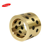 JDB Bushing manufacture brass graphite insert high quality full bronze made SOB copper graphite bearing bush