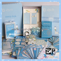 Simple Elegant Customized BCP Baby Boy Card kits for Scrapbook