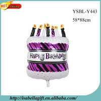 sweety birthday cake shape foil helium mylar balloons for party decoration