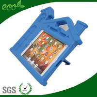 8 inch kids proof hard silicone stand house shape rubber tablet cover EVA foam tablet pc case for ipad mini