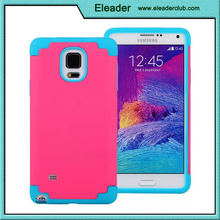 For Samsung Galaxy Note 4 Rubber Hard Protective Case 2 In 1