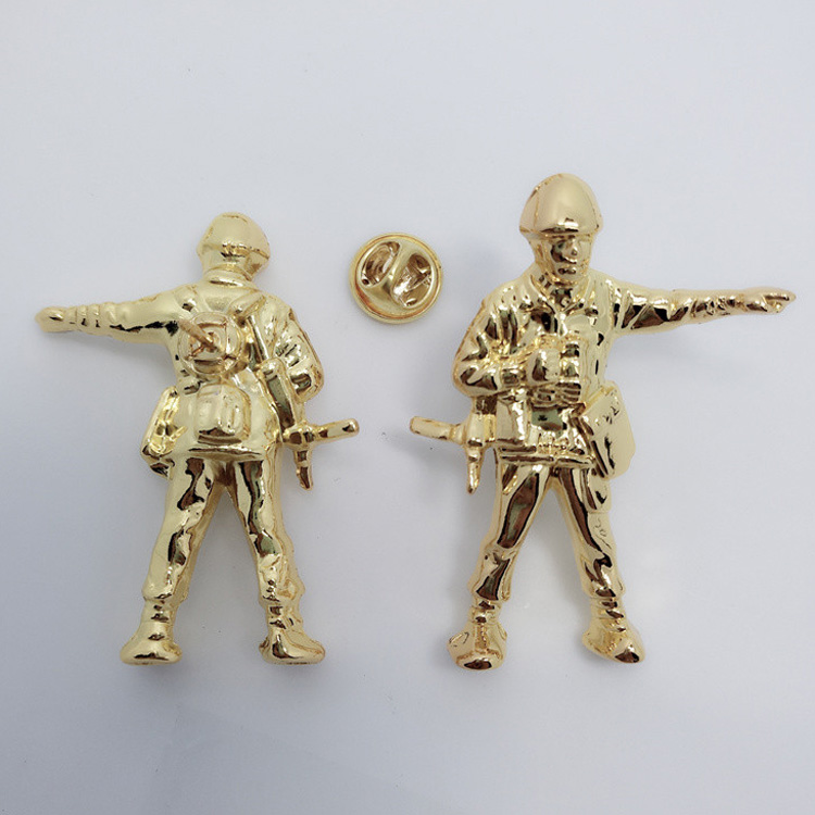 Souvenir three-dimensional soldier model customized creative soldier Badge