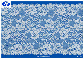 Hongtai high quality white african george lace fabric for garment French Cotton lace fabric