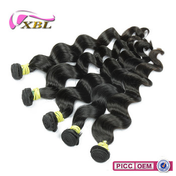 Raw natural black cheap pure virgin brazilian human hair weave