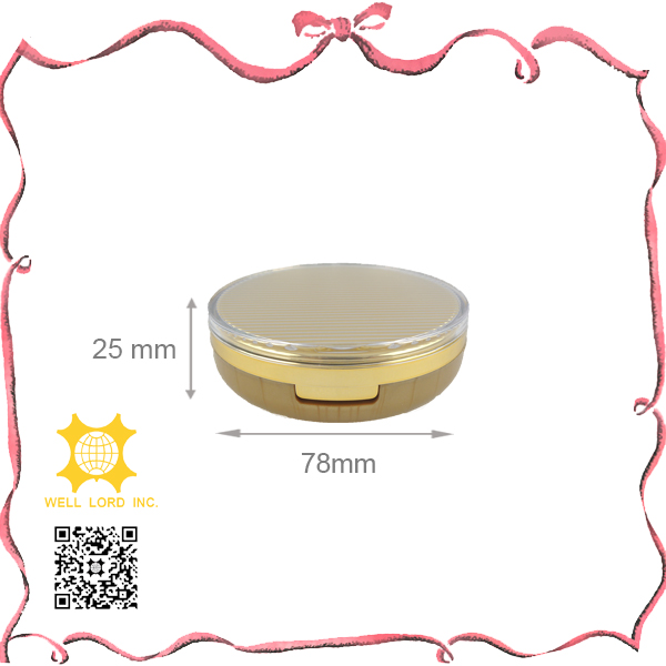 Dreamy golden good use plastic mirror powder case