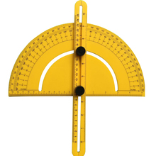 New Angle Engineer Protractor Finder Measure Arm Ruler Gauge Tool (Yellow)