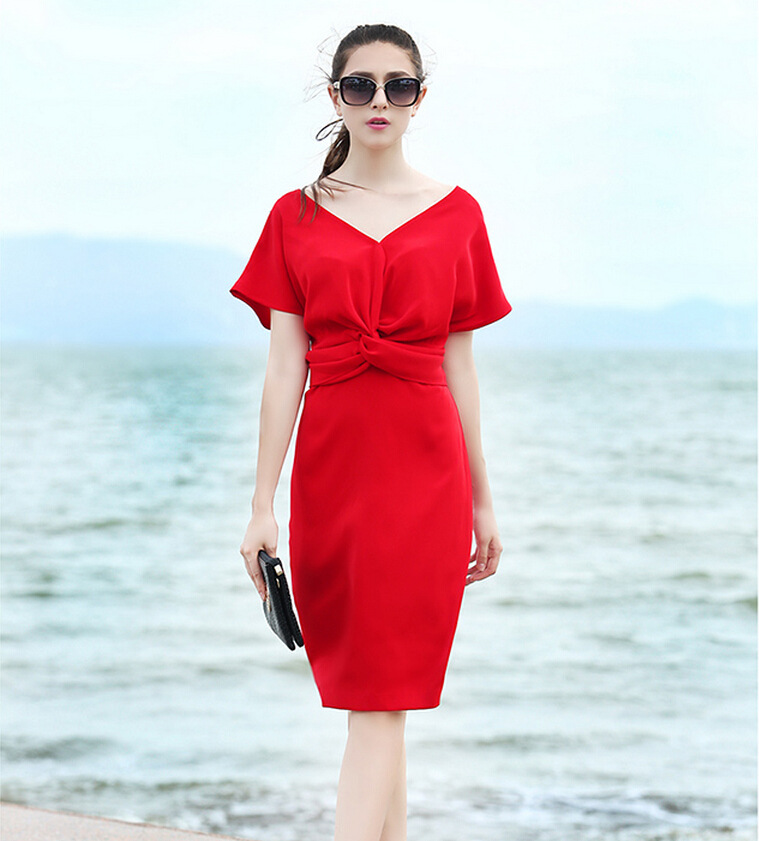 Z91540A OL ladies bodycon pencil dress fat women pictures for office wear