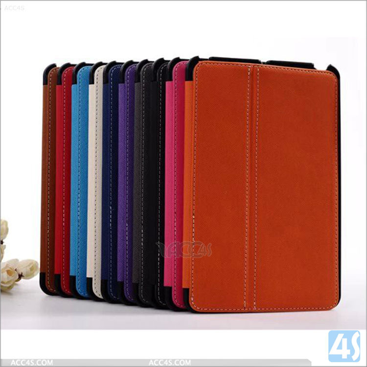 Wholesale price small MOQ Stand Folio leather case For Apple iPad Mini 2/3 with stylus pen holder