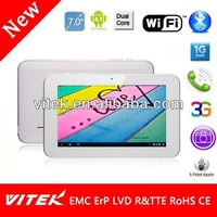 New Dual Core Phone Calling camera 7 inch best android Tablets 2013 with mtk mt8377