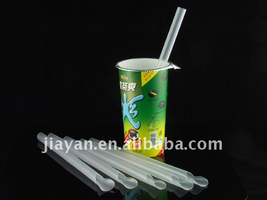 Spoon plastic drinking straw