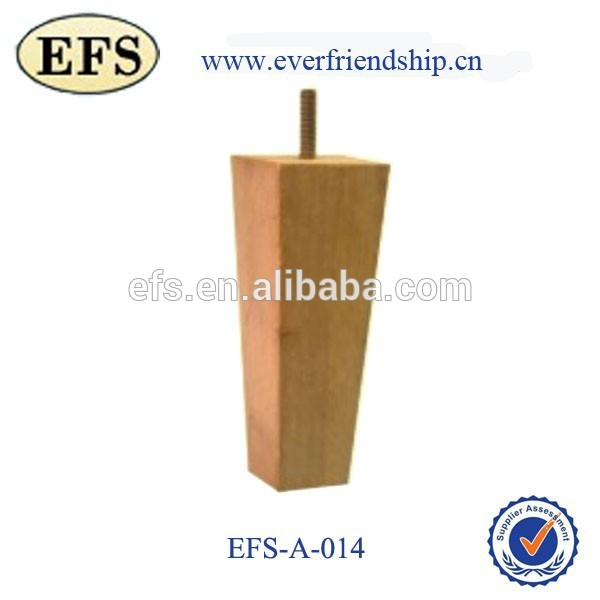 cheap tapered unfinished wood furniture sofa leg(EFS-A-014)