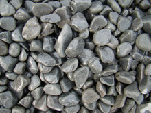 Chinese High tumbles Black Pebble Stone Black River Stone