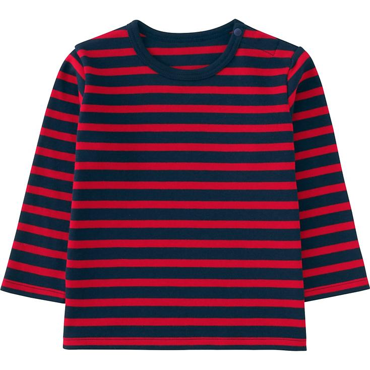 ATSC061 TODDLER CREWNECK STRIPED LONG SLEEVE T-SHIRT FACTORY