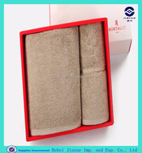 luxury eco-friendly cotton gift towel set packig in clear box