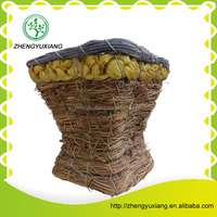 Handicraft straw basket