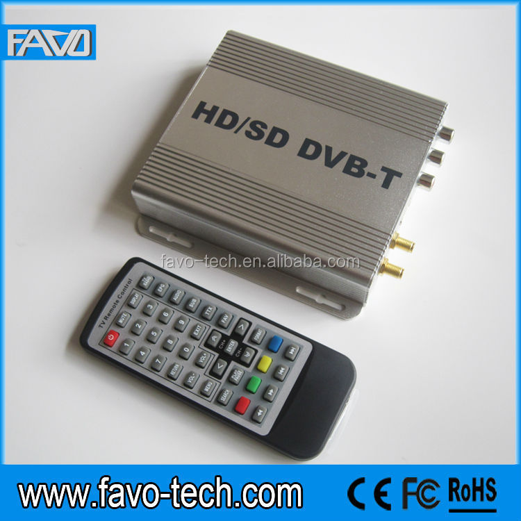 180KM/H H.264/ MPEG-4 Car freeview digital dvb-t tv receiver box with twin tuners