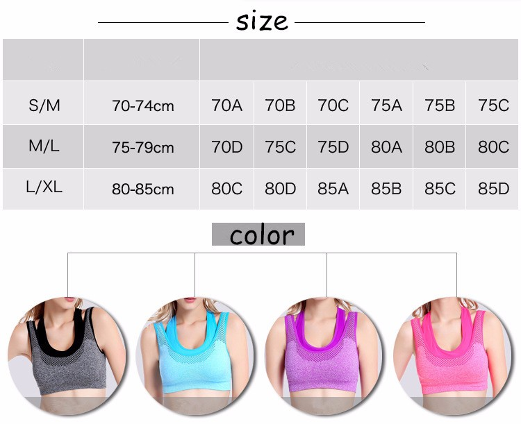 2017 Latest New Woman Yoga Clothing Wholesale Sports Bra Top with Support Inner Bra and Elastic Baldric Yoga Clothing